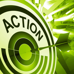 Action Means Proactive To Motivating Fitness