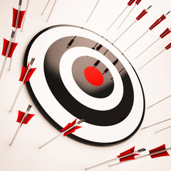 Off Target Shows Aiming Mistake