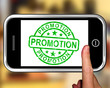 Promotion On Smartphone Shows Special Promotions