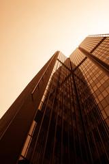 office buildings.  modern  glass wall of skyscraper