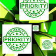 Priority On Cubes Shows Urgent Dispatch