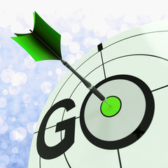 Go Means To Start Action To Proceed
