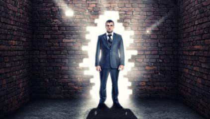 Coming confident businessman