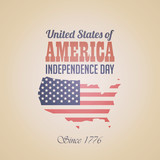 USA Independence day Vintage Retro design template