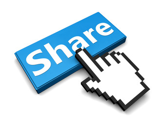 Share Button with Hand Shaped mouse Cursor