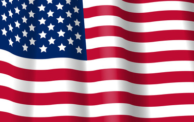 USA Flag vector. American symbol. 4th July background.