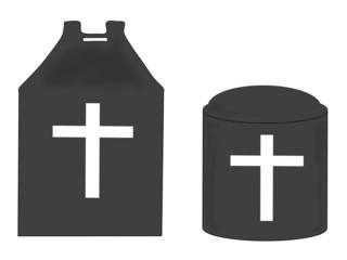 キリスト教の骨壺