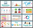 presentation template - business company slide show design