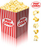 PopcornPopcorn in a striped tub on white background eps 10