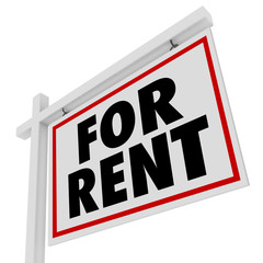 For Rent Real Estate Home Rental House Sign