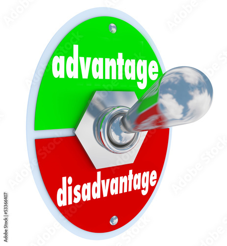 Competitive Advantage Vs Disadvantage Toggle Switch Choice