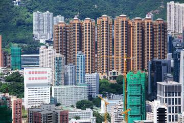 Residential building in Hong Kong at The peak