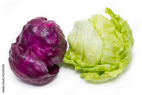 Purple Cabbage & Iceberg Lettuce