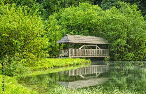 Wooden House on Water