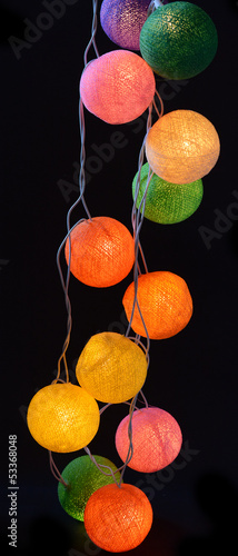 colourful lamps isolated