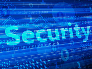 Security concept - technology abstract background