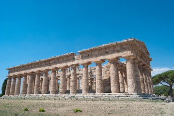 Acropolis of Paestum. Paestum is a Town in Campania, Italy