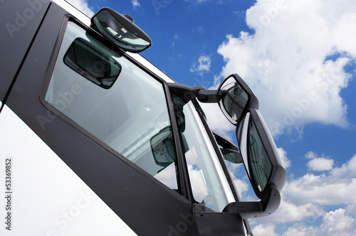 The image of a truck mirror
