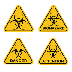 Biohazard, sign. Danger.