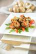 Champingons mit Tofu-Paprika-Füllung