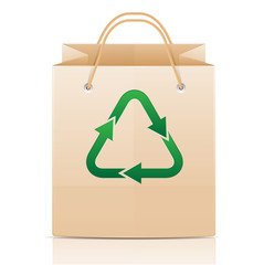 ecological paper bag with logo