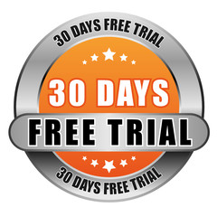 5 Star Button orange 30 DAYS FREE TRIAL DTO DTO