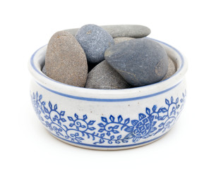 pebbles in a bowl