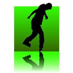roller blades green square