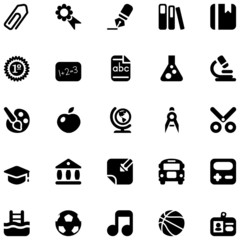 school black icons
