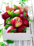 Fresh red apples - 53373290