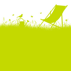 Summer Meadow Canvas Chair