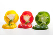 Composition of colored peppers