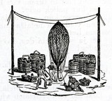 Filling aerostat with hydrogen (19. century) poster