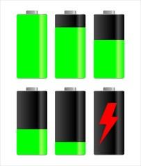 Symboles de niveau de charge de batterie / pile