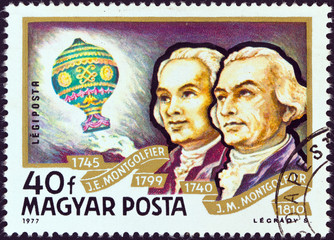 Montgolfier Brothers and Balloon (Hungary 1977)
