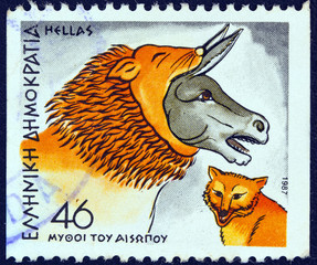 """The Ass in a Lion's Skin and the Fox"" (Greece 1987)"