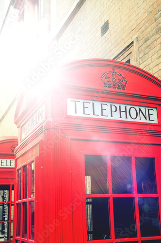 sunshine on phone box