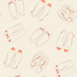 Summer shoes seamless pattern. Fashion vector illustration