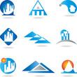 Logo, Immobilien, Architekt, Haus