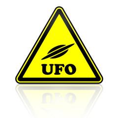 Неопознанные летающие объекты. Дорожный знак