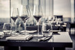 Empty glasses in restaurant - 53376297