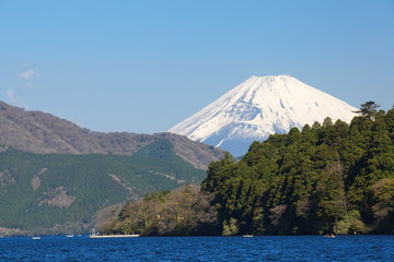 Mountain Fuji in spring from Hakone Japan