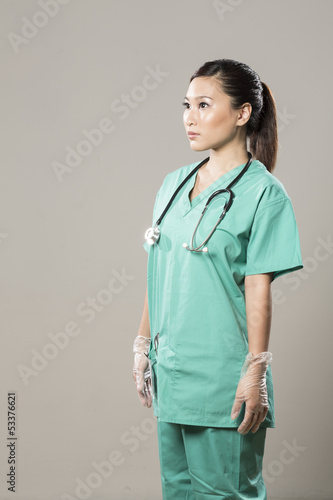 Portrait of a Chinese Female surgeon