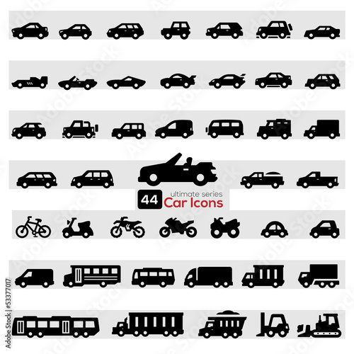 Poster Cars Icon Set