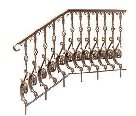 Decorative  banisters, railing.