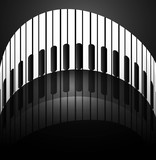 Abstract background with piano keys reflection stylish design ve