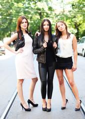 drei junge Models
