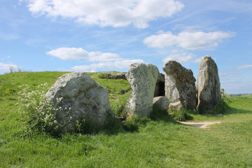 Stones at entrance to West Kennet Long Barrow