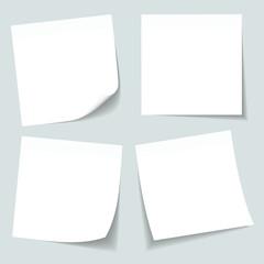 4 White Stick Notes Grey