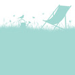 Summer Meadow Canvas Chair Turquoise